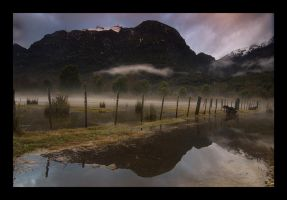 Fenced Fog by VincerePhotography