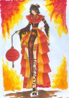 Chinese Dress by MoonlightCrystal89