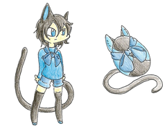 Eggs 4: Black and Blue Cat: Closed by AkiraInugamiWolf