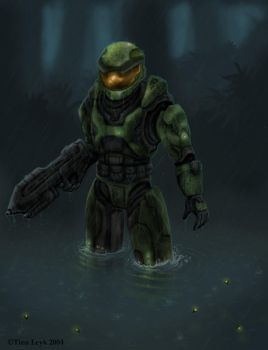 Halo FanArt- Master Chief by jaxxblackfox