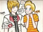 Roxas and Lucas by MademoiselleRose