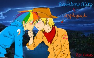 Rainbow blitz and applejack by Lassy-ruaf-ruaf
