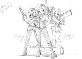 Charlie's Angels? xD by BlossomPPG