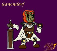 Ganondorf Smiley by cheddarpaladin