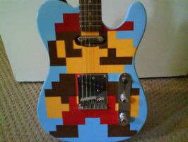 Retro Mario Telecaster by WillziakDS