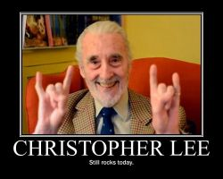 Christopher Lee still rocks today! by nintendofan101