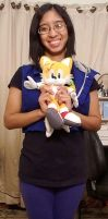 Me and my Sonic Tails plush doll photo 2 by Magic-Kristina-KW