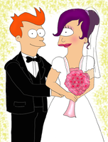 Fry and Leela: 'Till Death Do Us Part by DarbyLucy