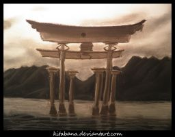 Temple Over Water by Kitabana