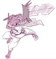 Free Sketch III- Manya by RubyFeather