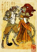 Sparing Dance by soulspoison