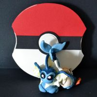 Vaporeon Necklace and Pokeball by Loreleiwave