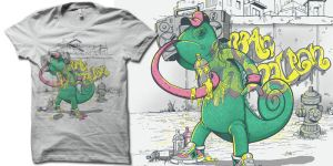 urban chameleon Remix t shirt by biotwist