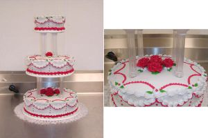 Candy Apple Red Wedding Cake by ayarel