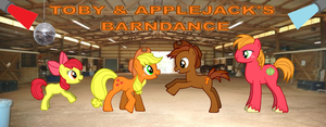 Toby and Applejack at the Barndance by LGee14