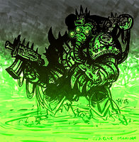 W40k: Plague Marine by MarcelDokoupil