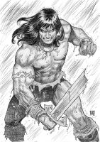 Conan Sketch by wgpencil