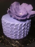 Buttercream Petal Effect Cake by Corpse-Queen
