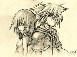 Sora y Kairi (Kingdom Hearts) by Zafe12