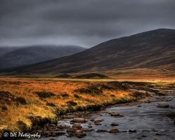 Cairngorm Hills from Braemar by davidjearly