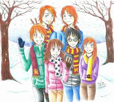Harry Potter Christmas by frostyshark