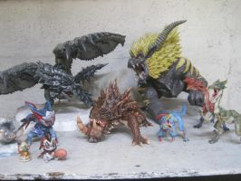 my mh clay sculpture collection by canary101