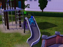 Sims 3 - Annasophia and Violet are going to slide by Magic-Kristina-KW