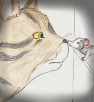 cat and mouse by Fleckenfrost