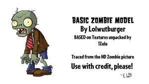 PVZ - Basic Zombie Model V1! (CLICK DOWNLOAD) by Lolwutburger