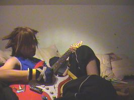 Sora plays guitar by sora-nitida