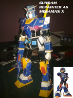 Gundam Repainted as Megaman X by daigospencer