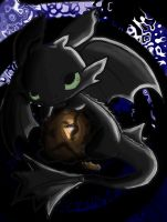 Toothless Chibi (color) by ScarletDraco