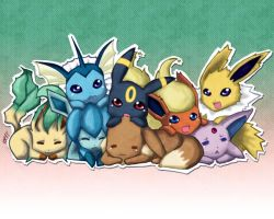 Eevee and its evolutions by lene