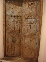 Double door with crucifixes by maryhelen