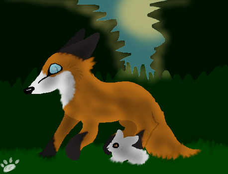 Fox And Rabbit by BizzaresDreams