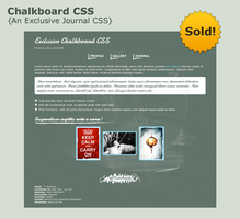 Exclusive Chalkboard CSS by pica-ae
