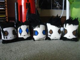 Black Veil Brides Pillows by pearlandfrog13