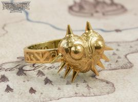 Ring - Majora's Mask (Polished Bronze) by PeregrineStudios