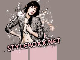Milla Jovovich Layout by fashionbomb
