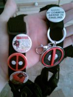 Deadpool cosplay buttons by Deadfish-Comics