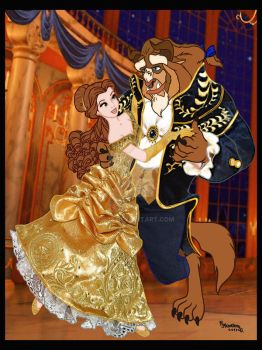 BELLE AND THE BEAST, FAIRYTALE DISNEY!!! by Rob32