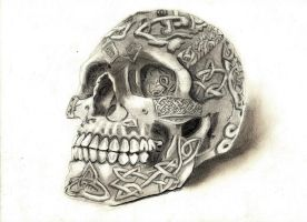 decorated skull by donotseeme
