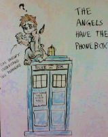 Whiteboard: Supernatural Angels Have the Phonebox by enginesummer