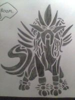 Tribal Entei by Jusala