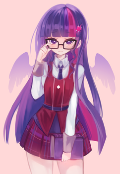 Nerdy Twilly by shouu-kun