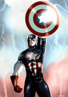 Captain America by MassimoGuidi
