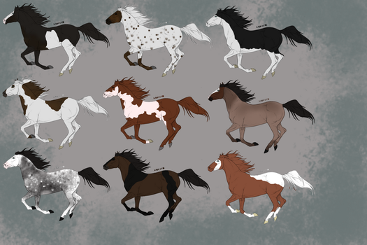OTA CLOSED HORSE ADOPTS [5/9] by Selunna