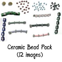 Ceramic Bead Pack by Sage-Dreamer