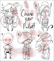 Halloween Humanoids- Choose your Pallet Auction by VogelSprache