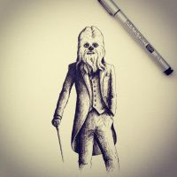 Chewbacca Sketch by LordColinOneal